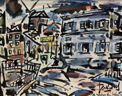 Galerie Roussard à Montmartre quelques oeuvres de GEN PAUL