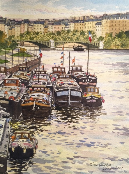 Aquarelle Originale Paris